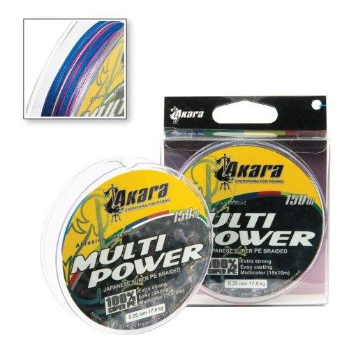 Шнур Akara Multi Power 150 м , 0,22 мм 14,8 кг, арт: 2282393817 - Флюорокарбон