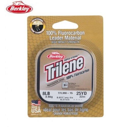 Леска Berkley Triline Fluorocarbon Clear прозрачная 50 м, Длина: 50м Диаметр: 0,20мм Тест: 2,8кг, арт: 4200685780 - Флюорокарбон