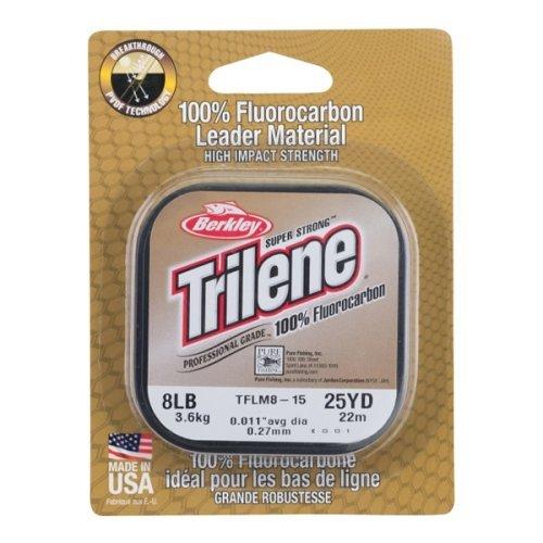 Леска Berkley Trilene 100% Fluorocarbon прозрачная 22 м, Длина: 22м Диаметр: 0,15мм Тест: 1,89кг, арт: 822924511 - Флюорокарбон