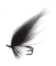 Лососевая муха UF Black N'Silver Double #6