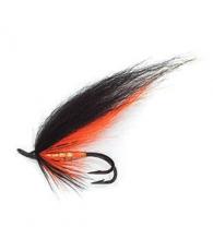 Лососевая муха UF Black Orange Double #6