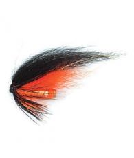 """Лососевая муха UF Black Orange Tube Plast 1"""""""