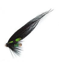 Лососевая муха UF Etterbutten Black/Lime US Tube M