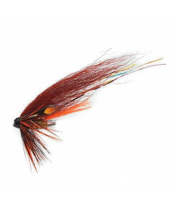 Лососевая муха UF Phatakorva Brown/Orange/Gold Tube Plast M
