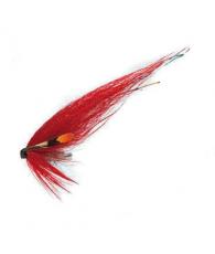 Лососевая муха UF Red Mirror Red/Silver Tube Plast M
