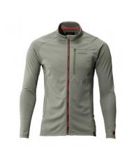 Футболка MS Full Zip Shirt (long sleeve) SH-001N Серый Хаки