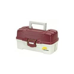 Ящик с одноуровневой системой хранения приманок и двумя боковыми отсеками на крышке Plano 6201-06