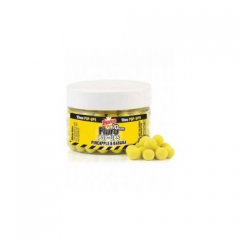 Бойлы плавающие Dynamite Baits  10 мм. Pineapple & Banana Fluro